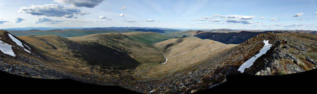 Alaskan wilderness photography Pinnell Mountain trail panorama